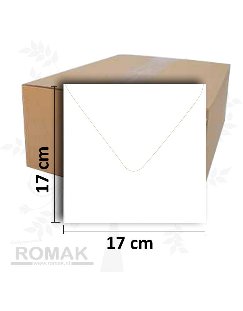 170 enveloppes blanches 1200 de 170 x 170 mm