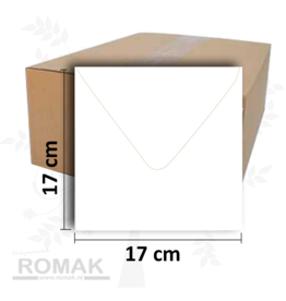 170 x 170 mm white 1200 envelopes