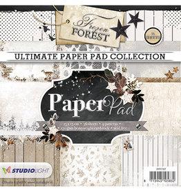 Studiolight Bloc de papier Blok, Frozen Forest no.87