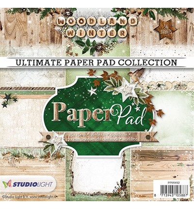 Studiolight Paperpad Woodland Winter, nr. 91