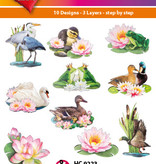 Hearty Crafts Easy 3D-Toppers - Pond Animals & Flowers