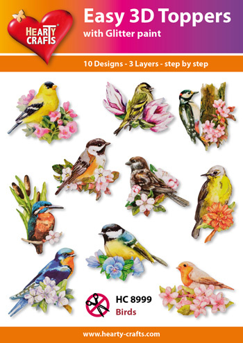 Hearty Crafts Easy 3D-Toppers Birds
