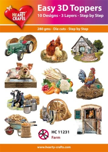 Hearty Crafts Easy 3D-Toppers Farm