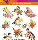 Hearty Crafts Easy 3D-Toppers Budgies & Birds