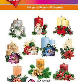 Hearty Crafts Easy 3D-Toppers Candles in Wintertime