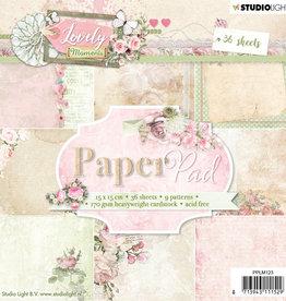 Studiolight Paper Pad 15 x 15 cm, Lovely Moments nr.123