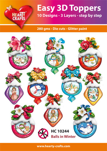 Hearty Crafts Easy 3D - Decoballs in Winter