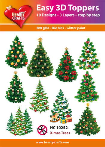 Hearty Crafts Easy 3D - Christmas Trees
