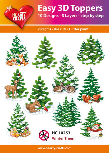 Hearty Crafts Easy 3D - Winter Trees