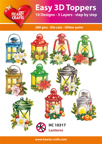 Hearty Crafts Easy 3D-Toppers Lanterns