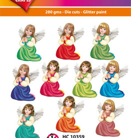 Hearty Crafts Easy 3D-Toppers Angels (praying)