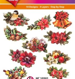 Hearty Crafts Easy 3D-Toppers Christmas Floristy (2)