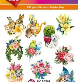 Hearty Crafts Easy 3D-Toppers Spring Feelings