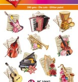 Hearty Crafts Easy 3D-Toppers Music-Instruments