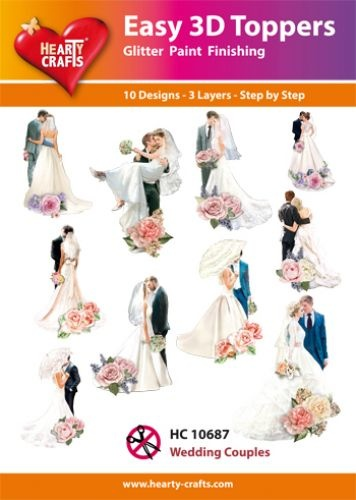 Hearty Crafts Easy 3D - Wedding Couples
