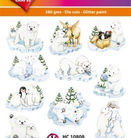 Hearty Crafts Easy 3D - Funny Polar Bears