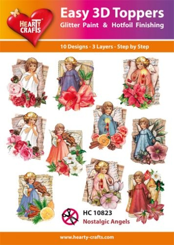Hearty Crafts Easy 3D-Toppers Nostalgic Angels
