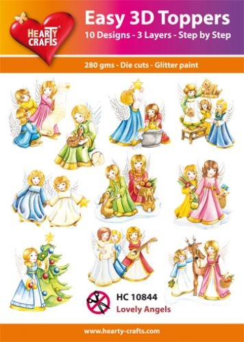 Hearty Crafts Easy 3D-Toppers Lovely Angels