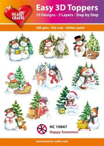 Hearty Crafts Easy 3D - Happy Snowmen