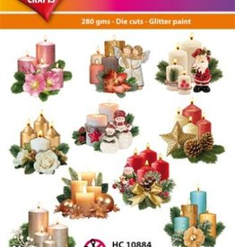 Hearty Crafts Easy 3D-Toppers Advent Candles
