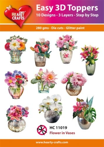 Hearty Crafts Easy 3D - Flower in Vases