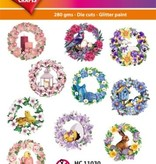 Hearty Crafts Easy 3D - Spring Flower Wreath