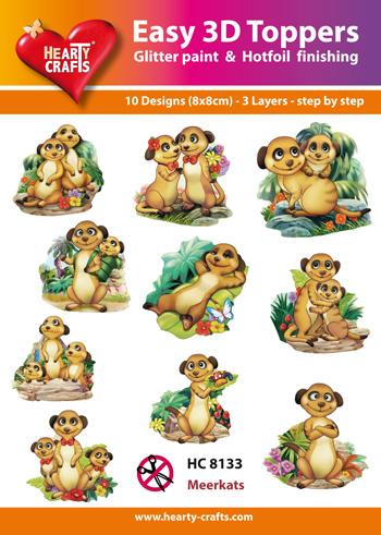 Hearty Crafts Easy 3D - Meerkats  6,5 - 7,5 cm