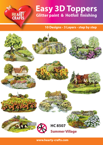Hearty Crafts Easy 3D - Summer Village  5 - 10 cm