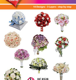 Hearty Crafts Easy 3D - Bridal bouquet  7 - 9 cm