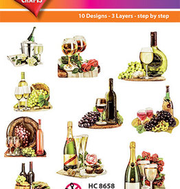 Hearty Crafts Easy 3D - Wine and Champagne 6-8cm