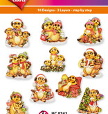 Hearty Crafts Easy 3D - Christmas Meerkats