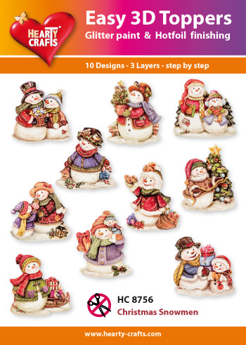 Hearty Crafts Easy 3D - Christmas Snowmen