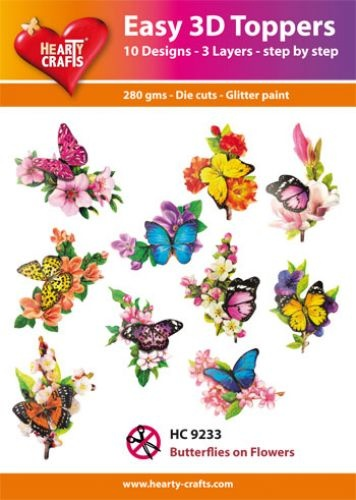 Hearty Crafts Easy 3D - Butterflies on Flowers