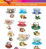 Hearty Crafts Easy 3D - Winter Teacups