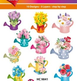 Hearty Crafts Easy 3D - Flowers in Watering Can