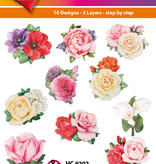 Hearty Crafts Easy 3D-Toppers Romantic Flowers