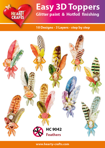 Hearty Crafts Easy 3D-Toppers Feathers