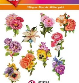Hearty Crafts Easy 3D-Toppers Flower Bouquet
