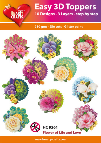 Hearty Crafts Easy 3D-Toppers Flower of Life and Love