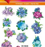 Hearty Crafts Easy 3D - Flowers, Blue/Violet