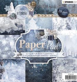Studiolight Paper Pad 15 x 15 cm, Snowy Afternoon nr.126