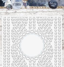 Studiolight Embossing Folder With Die Cut, Snowy Afternoon nr.01