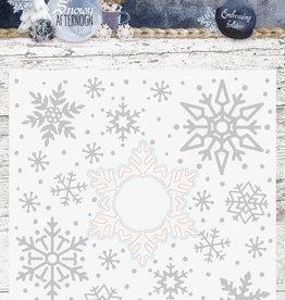 Studiolight Embossing Folder With Die Cut, Snowy afternoon nr.02