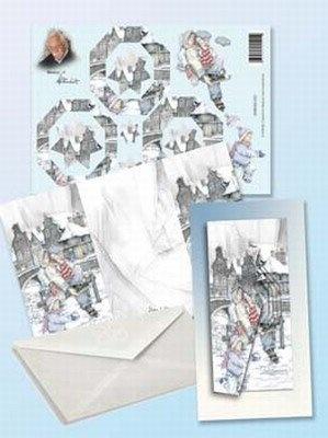 Creatief Art CA Kaart 1x kaart x 3D vel 1x enveloppe
