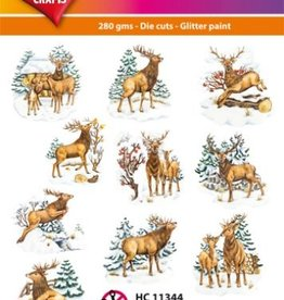 Hearty Crafts Easy 3D-Toppers Deer in Winter