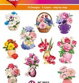 Hearty Crafts Easy 3D - Flowers-Deco