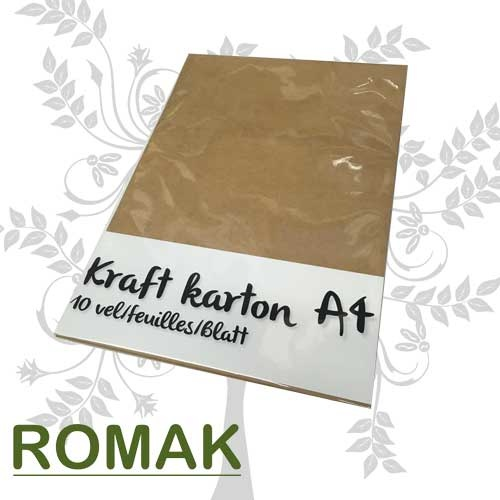 Kraft cardboard A4