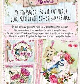 Studiolight Stansblok A4 Beautiful Flowers