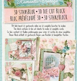 Studiolight Stansblok A4 Romantic Vintage
