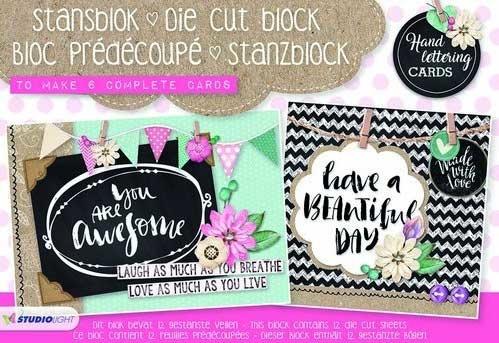 Studiolight A5 Stansblok Handlettering Cards